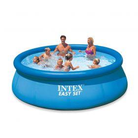 Надуваем басейн Интекс с размер: Ф 3.66 м. х 76 см.