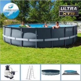 Сглобяем басейн INTEX Ultra XTR Frame 610 х 122 см.