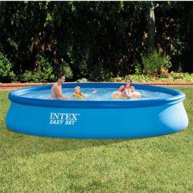 Надуваем басейн Интекс с размер: диам. 4.57 м. х 84 см.