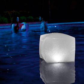 Многоцветен плаващ LED куб INTEX за басейни и джакузита