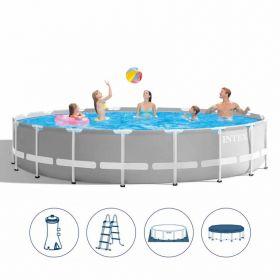 Intex басейн с конструкция Ф549x122 см PRISM с филтрация