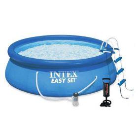 Надуваем басейн Интекс с размер диам. 4,57м х 1,22м + ръчна помпа за надуване