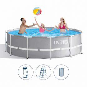 Сглобяем басейн INTEX Prism Frame с филтърна помпа 366 x 99 см