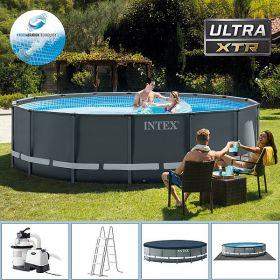 Intex басейн с конструкция Ф488x122см ULTRA с филтрация